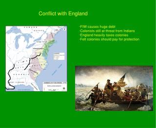 Conflict with England