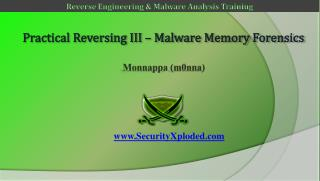 Practical Reversing III – Malware Memory Forensics