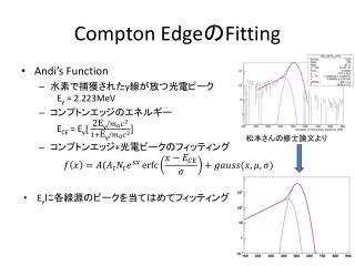 Compton Edge の Fitting