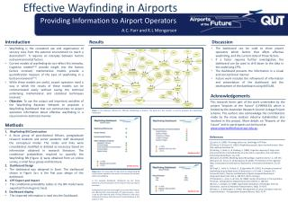 Effective  Wayfinding  in Airports