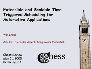 Extensible and Scalable Time Triggered Scheduling for  Automotive Applications