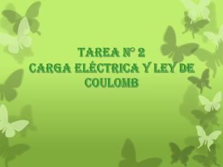 tarea N° 2 Carga  Eléctrica y Ley de Coulomb