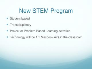 New STEM Program