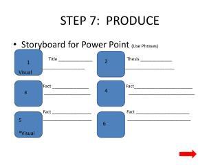 STEP  7 :  PRODUCE