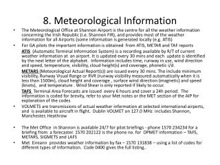 8. Meteorological Information