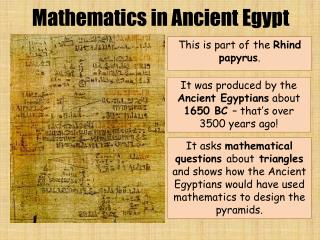 This is part of the  Rhind  papyrus .