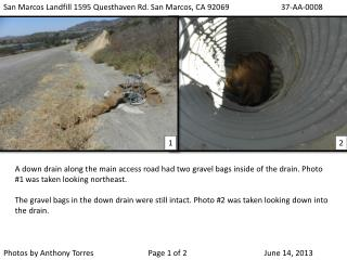 San Marcos Landfill 1595 Questhaven Rd. San Marcos, CA 92069 		37-AA-0008