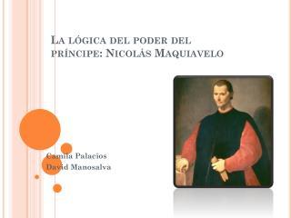 La lógica del poder del  príncipe: Nicolás Maquiavelo