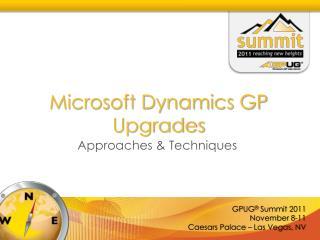 Microsoft Dynamics GP Upgrades