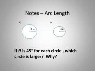 Notes – Arc Length