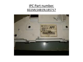 IPC Part number. 6G1ML54B19L185717