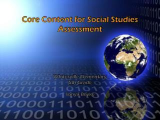 Core Content for Social Studies Assessment