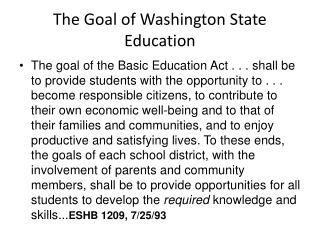 The Goal of Washington State Education