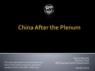 China After the Plenum