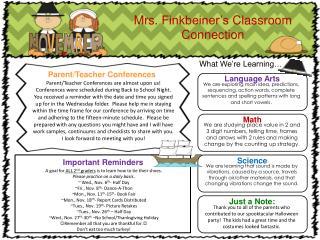 Mrs.  Finkbeiner's  Classroom Connection
