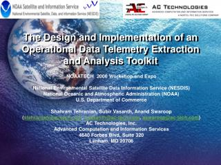 The Design and Implementation of an Operational Data Telemetry Extraction and Analysis Toolkit
