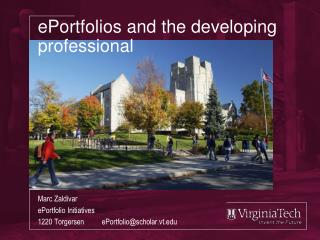 ePortfolios  and the developing professional