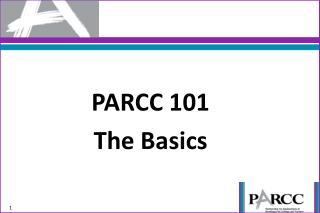 PARCC 101 The Basics