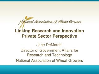 Linking Research and Innovation  Private Sector Perspective