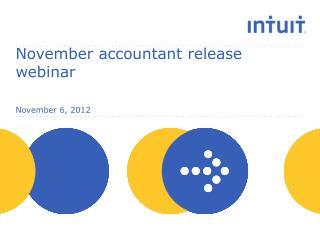 November accountant release webinar