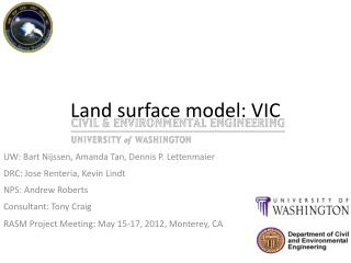 Land surface model: VIC