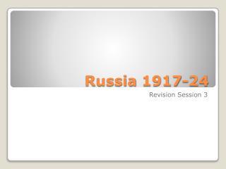 Russia 1917-24