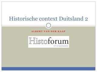 Historische context  Duitsland 2