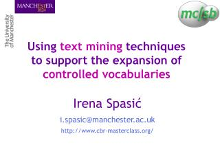 Using text mining techniques to support the expansion of controlled vocabularies