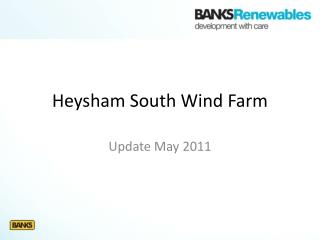 Heysham  South Wind Farm