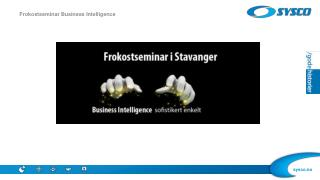 Frokostseminar Business  Intelligence
