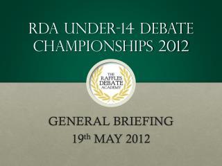 RDA  Under-14  Debate Championships 2012