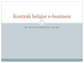 Kontrak belajar  e-business