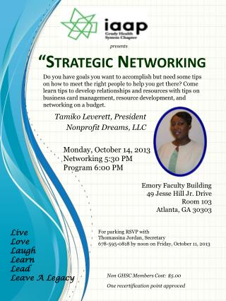 """Strategic Networking"