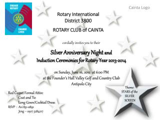 Rotary International District 3800 ROTARY CLUB of CAINTA