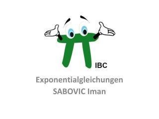Exponentialgleichungen SABOVIC Iman
