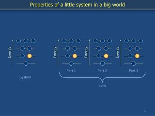 Properties of a little system in a big world