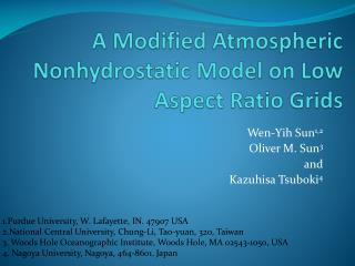 A Modified Atmospheric Nonhydrostatic Model on Low Aspect Ratio Grids
