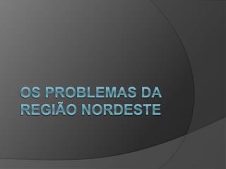 OS PROBLEMAS DA REGI�O NORDESTE