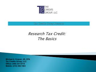 Tax Credits Group Presents :