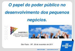 O papel do poder público no desenvolvimento dos pequenos negócios.