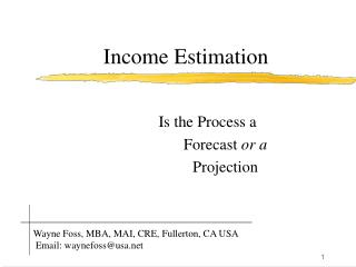 Income Estimation