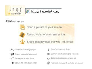JING allows you to…