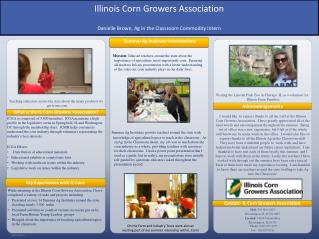 Teaching educators across the state about the many products we get from corn.