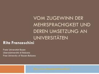 Vom Zugewinn der Mehrsprachigkeit und deren Umsetzung an Universitäten