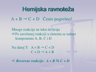 Hemijska ravnoteža