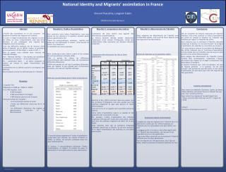 L'enquête  TeO :  Réalisée en 2008 par l'INED et l'INSEE  22 000 enquêtés, dont  8 000 immigrés