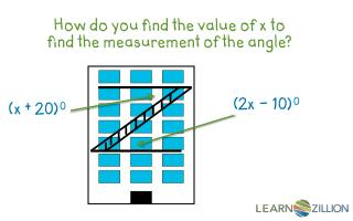 How do you find the value of x to find the measurement of the angle?