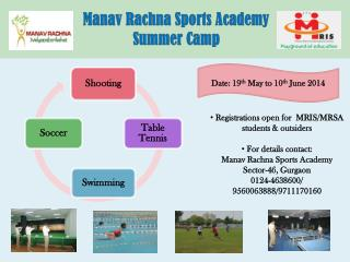 Manav Rachna Sports Academy Summer Camp
