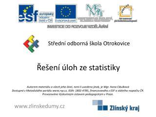 Řešení  úloh ze  statistiky