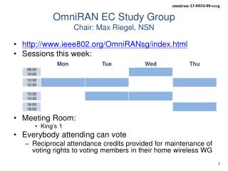 OmniRAN EC Study Group Chair: Max Riegel, NSN